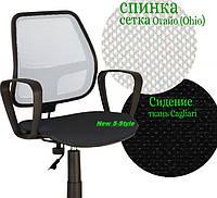 Кресло офисное для персонала ALFA с подлокотниками на роликах GTP PM60 OH/1 C-11