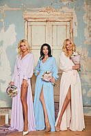 Женское выпускное/вечернее/для подружек невест платье миди из креп-шифона