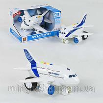 Самолёт WY 720 A/ WY 720 B (78499) инерция, 2 вида, световые и звуковые эффекты, на батарейках, в коробке