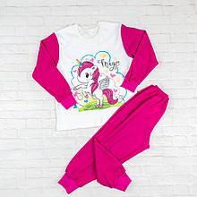 Пижама с длинным рукавом на девочек