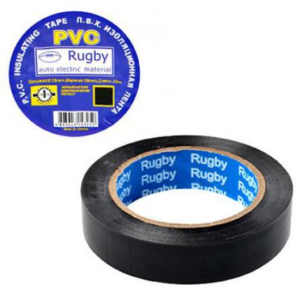 """Изолента PVC 10м """"RUGBY"""" черная, фото 2"""