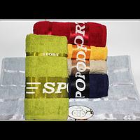 Банные полотенца для ванны, комплект полотенец для дома, полотенце 140х70 см махра СПОРТ., фото 1