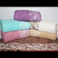 Банные полотенца для ванны, комплект полотенец для дома, полотенце 140х70 см махра НЕЗАБУДКИ.