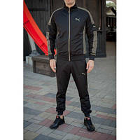 Спорт костюм Puma черный+олива