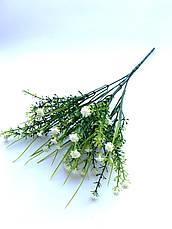 Искусственный пластиковый куст с мелкими цветочками ( оранжевый 28 см), фото 2