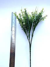 Искусственный пластиковый куст с мелкими цветочками ( оранжевый 28 см), фото 3
