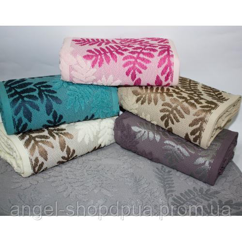 Банные полотенца для ванны, комплект полотенец для дома, полотенце 140х70 см махра ПАЛЬМА.