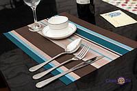 Комплект из 12 сервировочных ковриков прямоугольный коврик на стол разноцветная подставка под тарелку набор