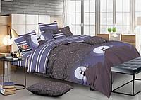 Двуспальный комплект постельного белья евро 200*220 сатин (13336) TM КРИСПОЛ Украина