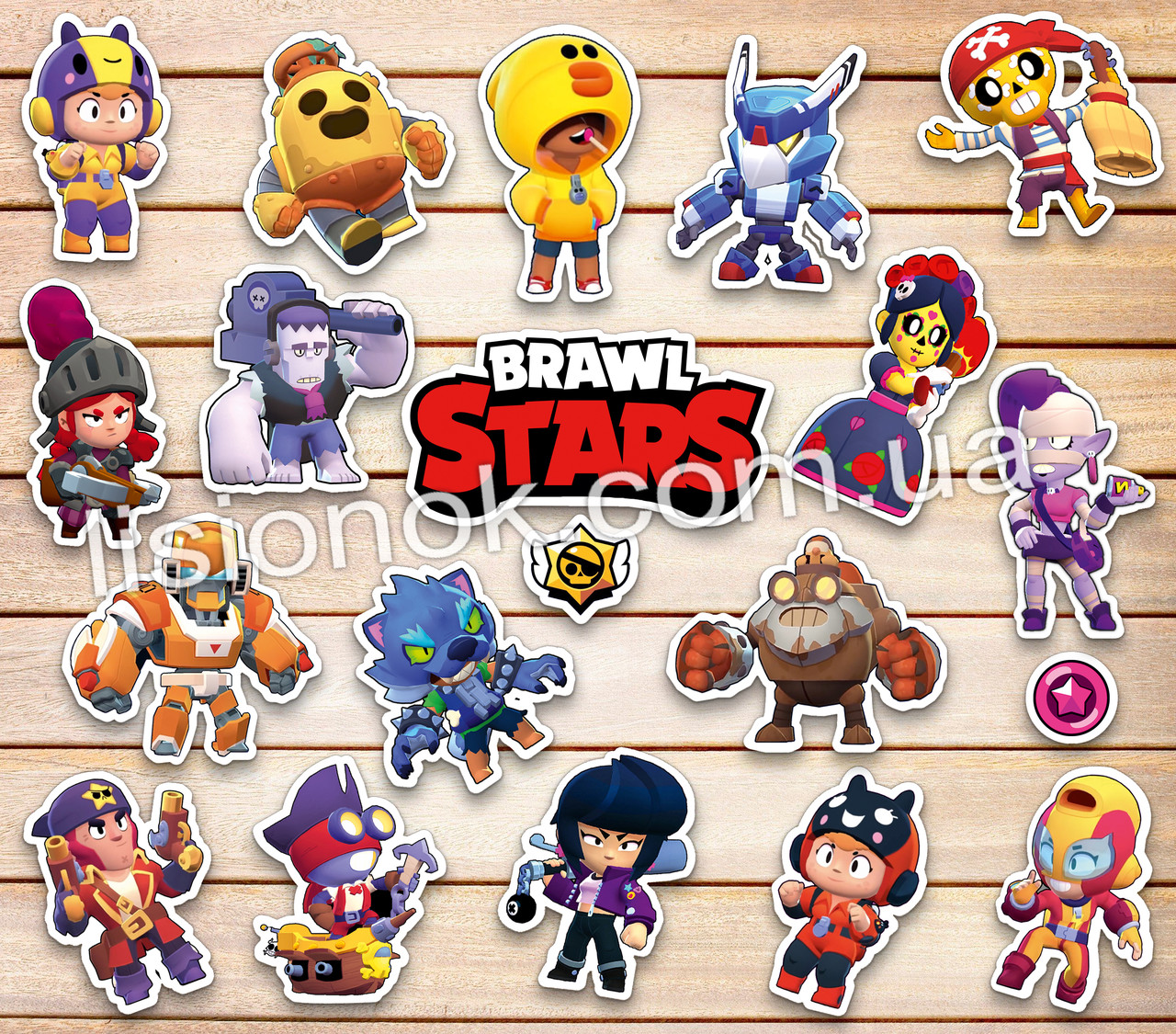 Набор наклеек Brawl Stars (Коллекция №2) с героями любимой игры, стикеры Бравл Старс