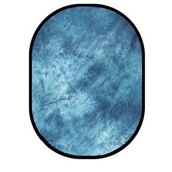 1.5*2м Фон в пружинной рамке Visico BP-028 W-069 (серо-синий в разводах) складной