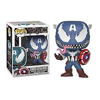 Фигурка Funko Pop Marvel Venom Captain America Марвел Веном Капитан Америка - 222780