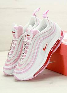 Женские кроссовки Nike Air Max 97 pink, найк аир макс 97 розовые