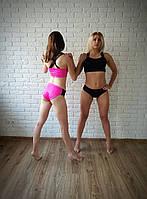 Костюм для Pole Dance, Exotic, растяжки (топ+шортики). Цвет розовый