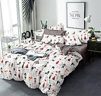 Полуторный комплект постельного белья 150*220 сатин (13440) TM КРИСПОЛ Украина