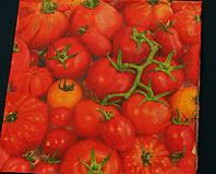 """№ 15 Салфетка для декупажа или сервировки стола """"Красные помидоры"""". 33х33"""