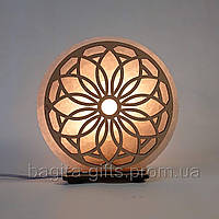 Соляная лампа круглая Узор 3