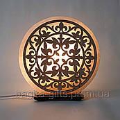 Соляная лампа круглая Узор 2