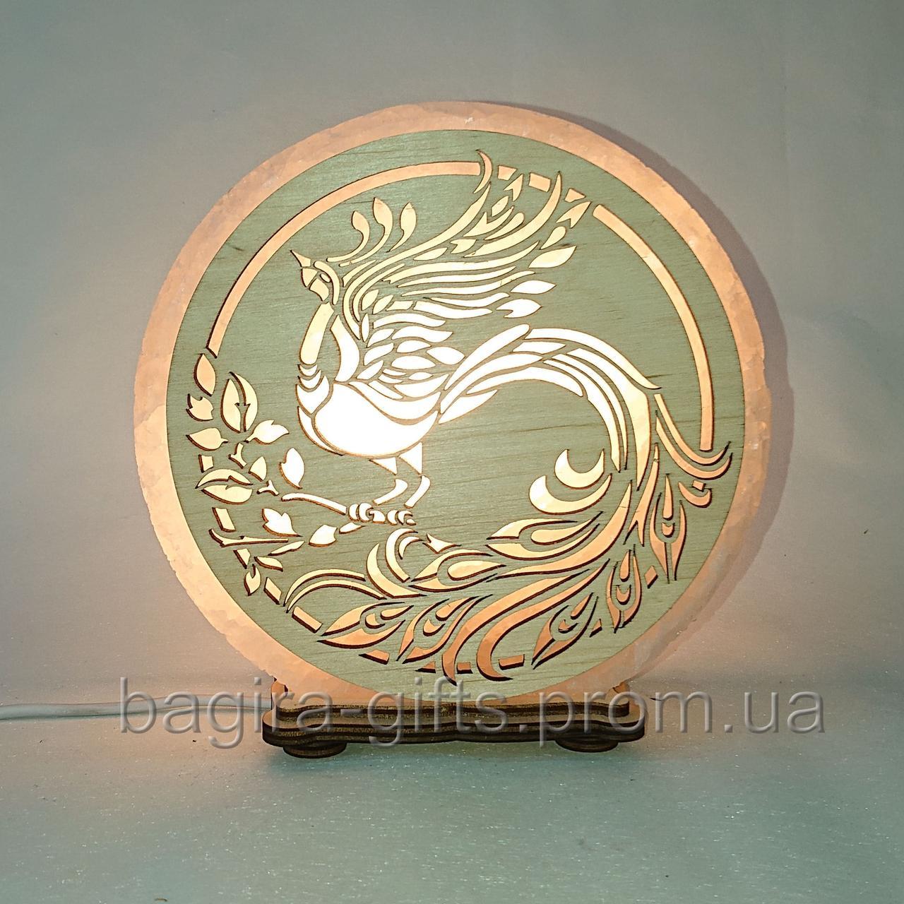 Соляна лампа кругла Жар-птиця