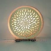 Соляная лампа круглая Узор 18