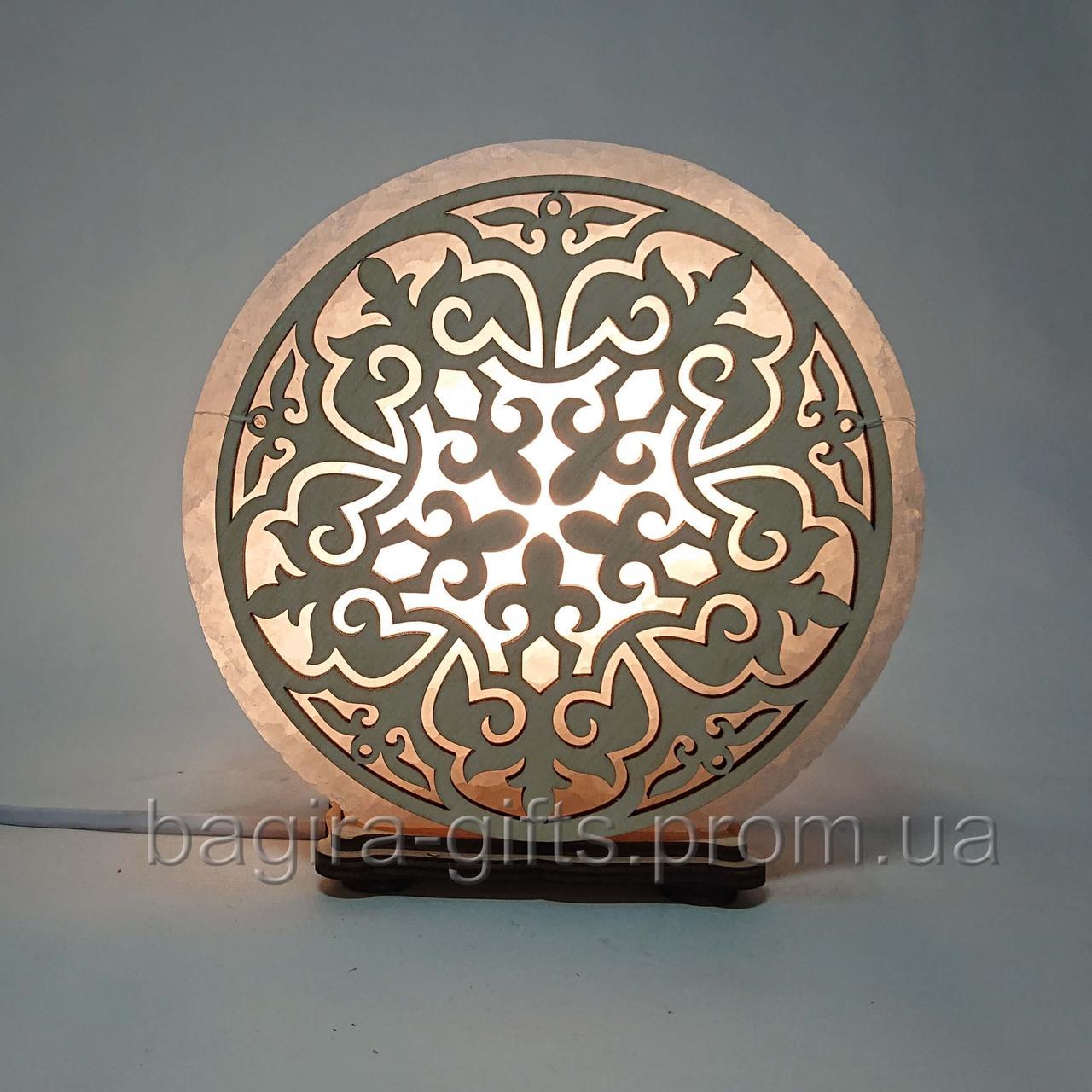 Соляна лампа кругла Візерунок 7