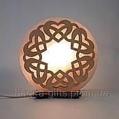 Соляна лампа кругла Палітурка сердець
