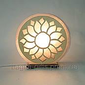 Соляна лампа кругла Соняшник
