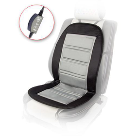 Накидка на сиденье H 96024 GY/BK 98x50см с подогревом и переключателем черно-серая