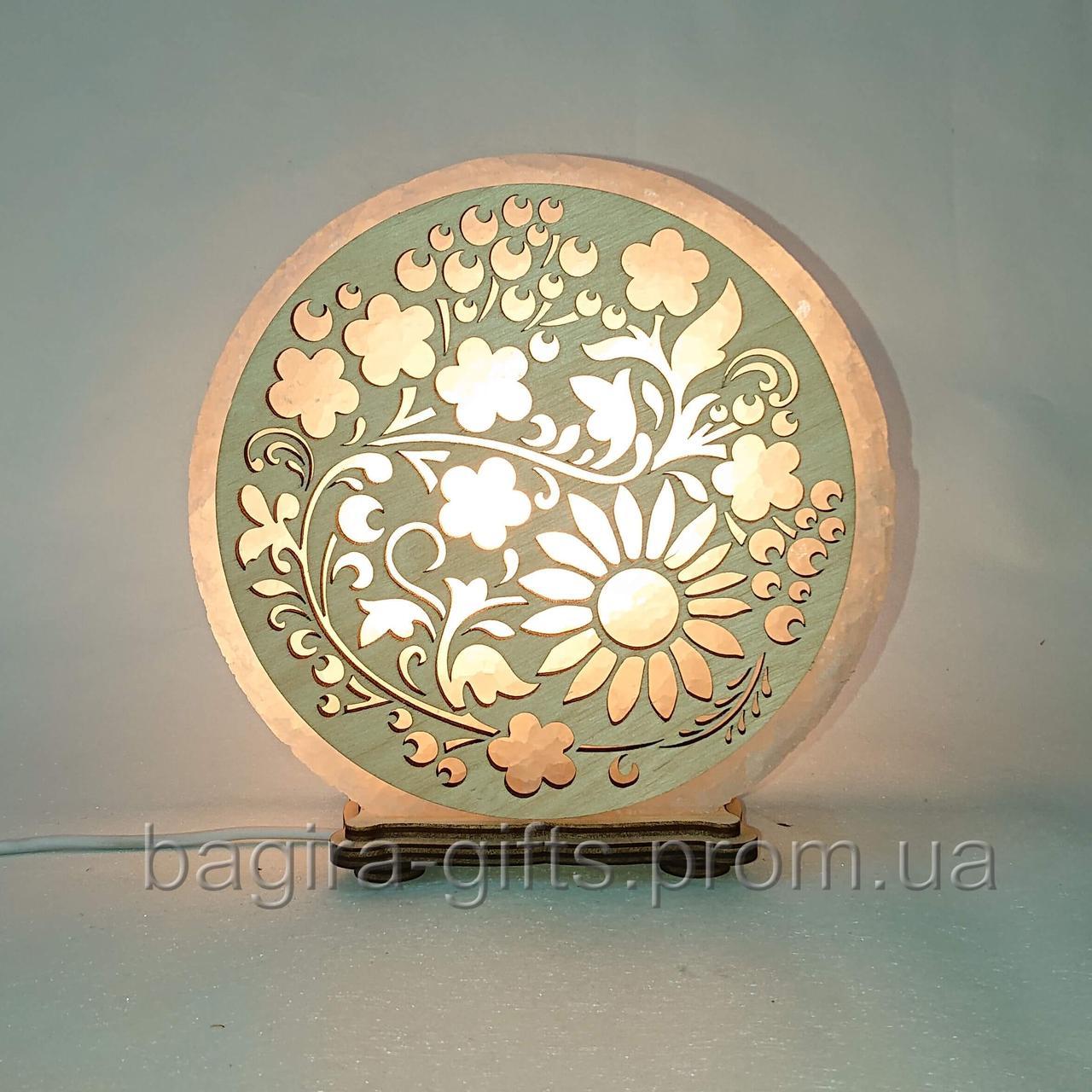 Соляная лампа круглая  Рябина