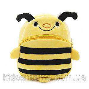 Рюкзак велюровый Пчелка, большой Berni