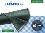 Біло-зелена затіняюча сітка Karatzis 65%, фото 5