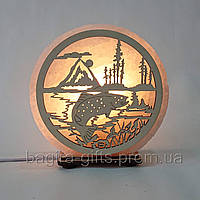 Соляна лампа кругла Риба