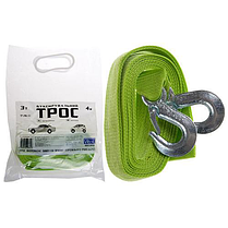 Трос буксир ST206/TP-206-3-1 К (FL) 3т лента 40мм х 4м люмин./крюк/кулек, фото 3