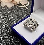Серебряное кольцо с черными цирконами Эми, фото 5