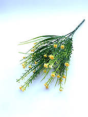 Искусственный пластиковый куст мелкими белыми цветочками ( 28 см), фото 2