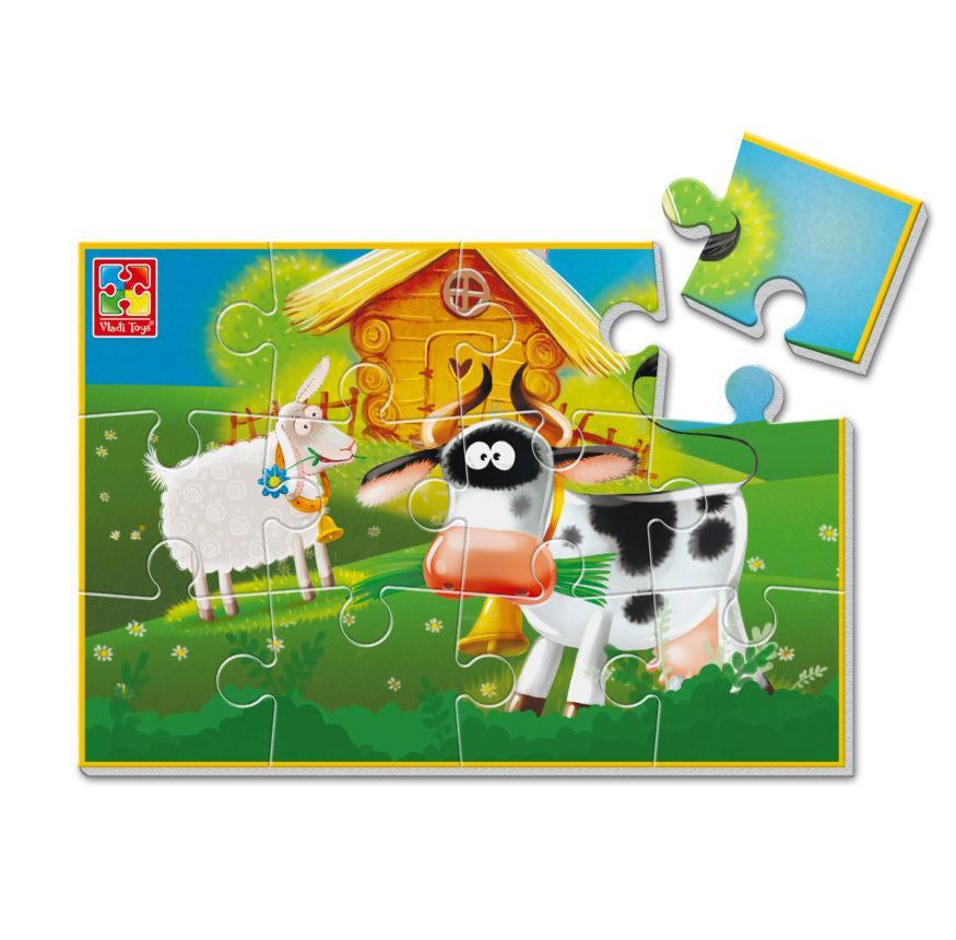 Мягкие пазлы Vladi Toys А5 Ферма 12 элементов (VT1103-84)