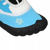 Взуття для пляжу і коралів (аквашузи) SportVida SV-DN0009-R34 Size 34 Blue/White, фото 3