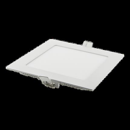 Светодиодный светильник встраиваемый 12W Серебро, квадрат, 4100K , фото 2