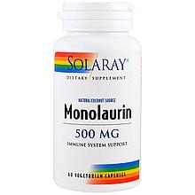 "Монолаурин SOLARAY ""Monolaurin"" для поддержки иммунитета, 500 мг (60 капсул)"