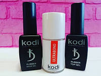 Набор Топ 8 мл + База 8 мл +Безкислотный праймер для ногтей  Kodi Professional Ultrabond, 15 мл
