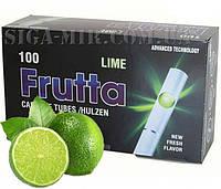 Гильзы Для Набивки Сигарет Frutta Lime (лимон) 100 штук, фото 1