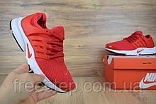 Чоловічі кросівки в стилі NIKE Air Presto червоні