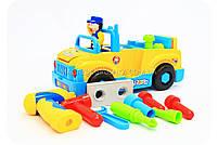 Конструктор Собирайка машинка-грузовик с шуруповертом на батарейках 789, фото 4