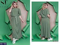 Платье AW-1350 Хаки/Горох