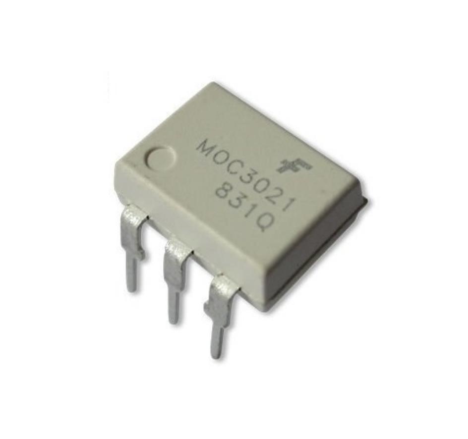 MOC3021, Оптопара с симисторным выходом 400В, переключение в любой момент времени [DIP-6]