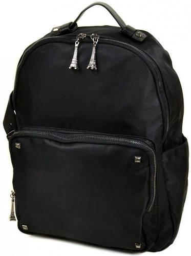 Прекрасный  женский рюкзак из нейлона 8735 black, черный