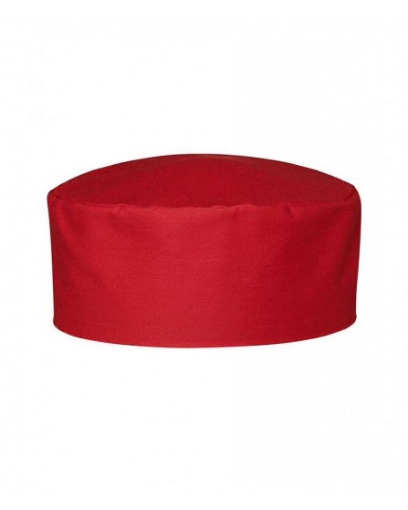 Шапка таблетка красная для повара Atteks универсальный - 1646