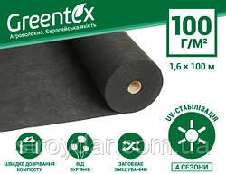 Агроволокно Greentex 1.6x100 м 100 пл. черное