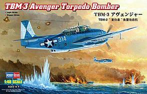 TBM-3 Avenger Torpedo Bomber. Сборная модель самолета из фильма МИДУЭЙ. 1/48 HOBBY BOSS 80325