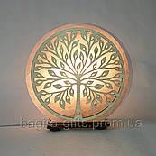 Соляна лампа кругла Дерево 2